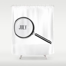July Magnifying Glass Shower Curtain