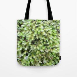 TEXTURES -- Moss on a Tree Trunk Tote Bag