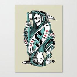 Death card Canvas Print