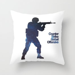 Space Army - Counter Strike Throw Pillow