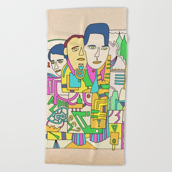 - camus - Beach Towel