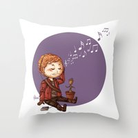 starlord Throw Pillows featuring StarLord by MaliceZ