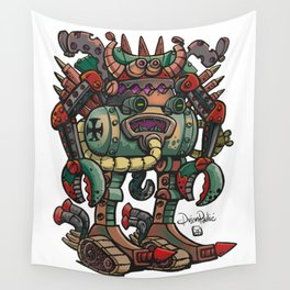 Old German robot Wall Tapestry