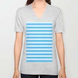 Blue Stripes Unisex V-Neck