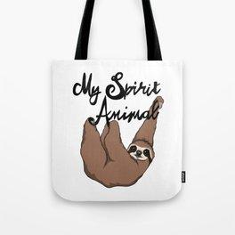 My Spirit Animal Cute Sloth Tote Bag