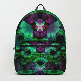 Emerald and Purple Spotted Swallowtail Butterflies Backpack