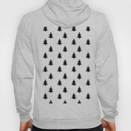 Black and White Christmas Trees Hoody