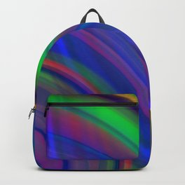 Interweaving curved semicircles with a crisp nautical accent and all the colors of the rainbow. Backpack