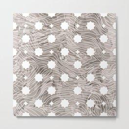 Stenciled Wood Grain Metal Print