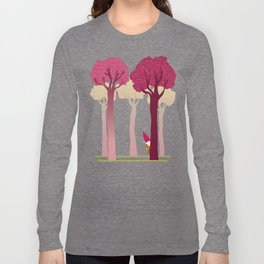 colorful forest with cute dwarf Long Sleeve T-shirt