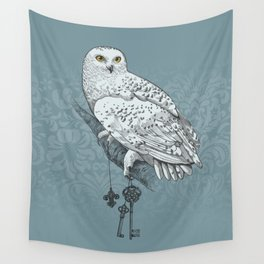 Secrets of the Snowy Owl Wall Tapestry