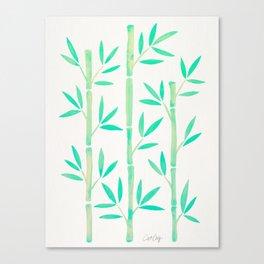 Bamboo Stems – Mint Palette Canvas Print