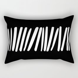 Tick 04 / Black and white print Rectangular Pillow