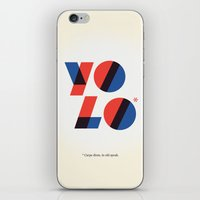 yolo iPhone & iPod Skins featuring Yolo by Wharton