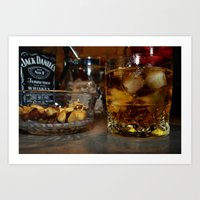 whiskey Art Prints featuring Whiskey by Tom Roberts