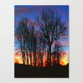 Wetplate Sunset Canvas Print