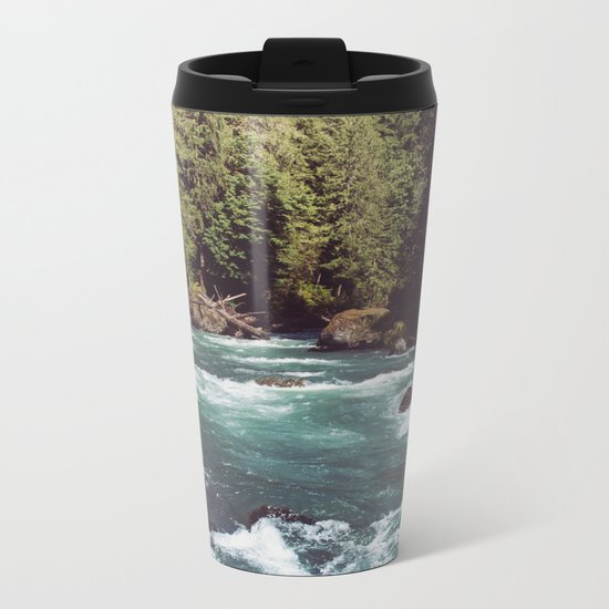 Pacific Northwest Wilderness Metal Travel Mug