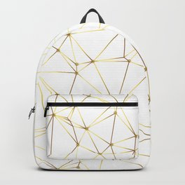 Geometric Golden Abstract Lines Backpack
