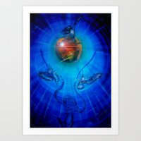 freedom Art Prints featuring Freedom by Walter Zettl