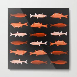 Red Fish, Less Red Fish Metal Print