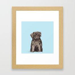 Louise adore les carlins Framed Art Print