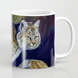 Bobcat  Painting  wildlife art  bold brushstrokes combined with vivid colours Alla Prima style favou Coffee Mug