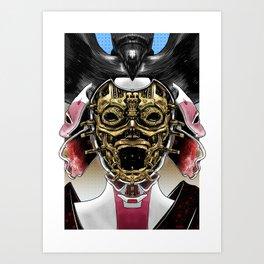 Robot Geisha V2 Art Print