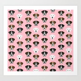 Boxers cute dog head boxer pattern must have gifts for dog lover with boxers Art Print