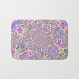 Pretty Lavender Garden Bath Mat