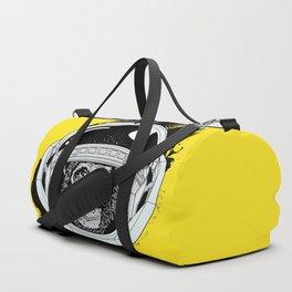 Space Monkey Yellow Duffle Bag