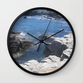 Carving Ocean Wall Clock