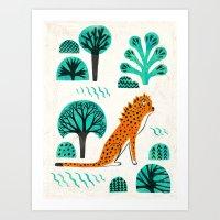 jaguar Art Prints featuring  Jaguar by Hui_Yuan-Chang