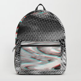 White Noise / Landscape / Gold Glitch #3 Backpack