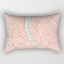 Budapest map, Hungary Rectangular Pillow