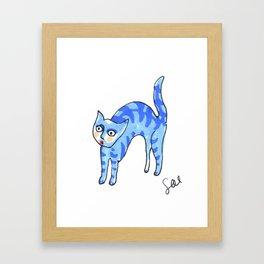 Blue Tiger Cat Framed Art Print