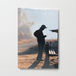 Myanmar Countryside  Metal Print
