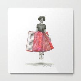 Accordion Skirt Pun Metal Print