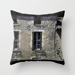 In France, by the window. Throw Pillow
