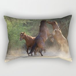 Going At It Rectangular Pillow