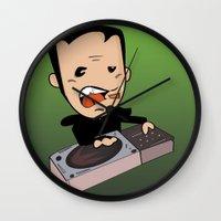 dj Wall Clocks featuring DJ by Grime Lab