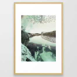 Border Embrace Framed Art Print