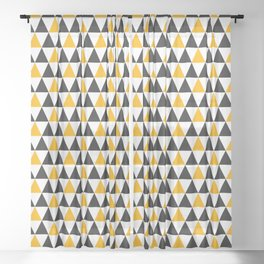 Happy halloween triangle geometric pattern Sheer Curtain