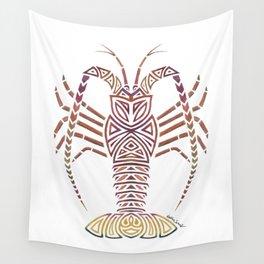 Tribal Caribbean Lobster Wall Tapestry