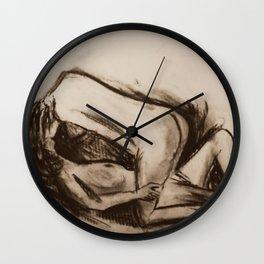 Female Figure Study In Love Wall Clock