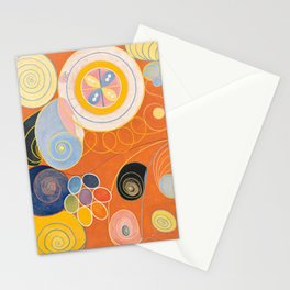 The Ten Largest, Group IV, No.4 by Hilma af Klint Stationery Cards