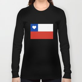 Texas State Flag with Heart Long Sleeve T-shirt
