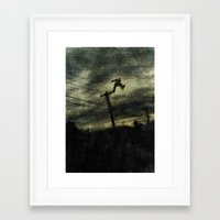 hunting Framed Art Prints featuring Hunting by Matthew Dunn