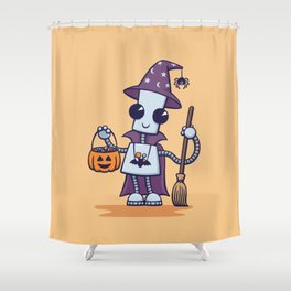 Ned's Halloween Witch Shower Curtain