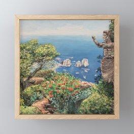 Faraglioni di Capri Framed Mini Art Print
