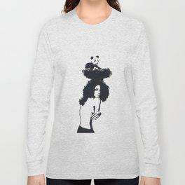 Traveling Panda Long Sleeve T-shirt